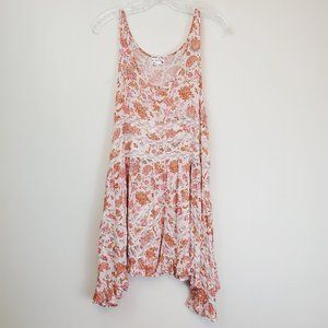 Free People Voile & Lace trapeze slip ###
